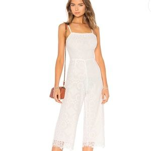 New Beach Riot White Lace Jumpsuit from Revolve